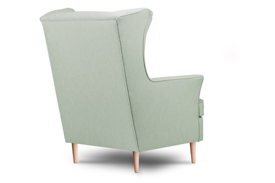 STRALIS Skandynawski fotel zielony na nóżkach miętowy - zdjęcie 3