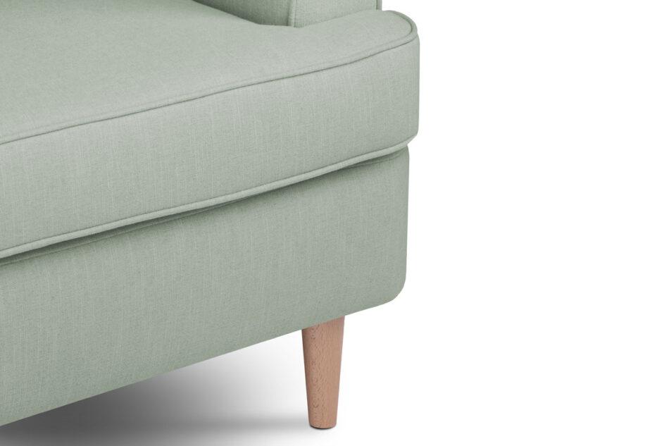 STRALIS Skandynawski fotel zielony na nóżkach miętowy - zdjęcie 4