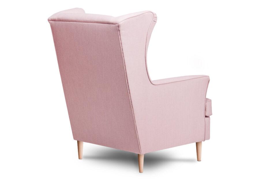 STRALIS Skandynawski fotel pudrowy róż na nóżkach różowy - zdjęcie 3