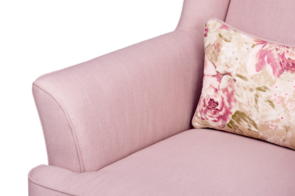 STRALIS Skandynawski fotel pudrowy róż na nóżkach różowy - zdjęcie 5