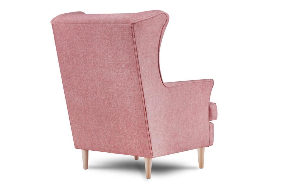 STRALIS Skandynawski fotel różowy na nóżkach koralowy - zdjęcie 3