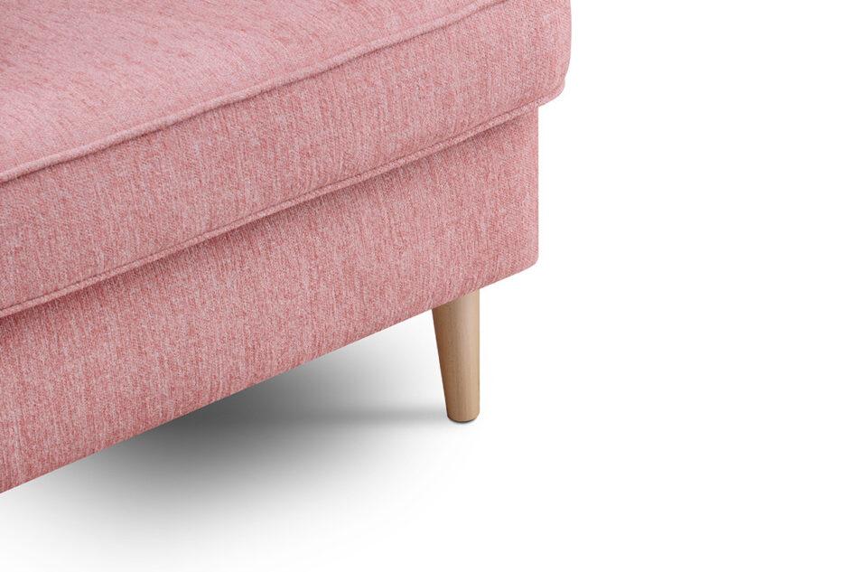 STRALIS Skandynawski fotel różowy na nóżkach koralowy - zdjęcie 8