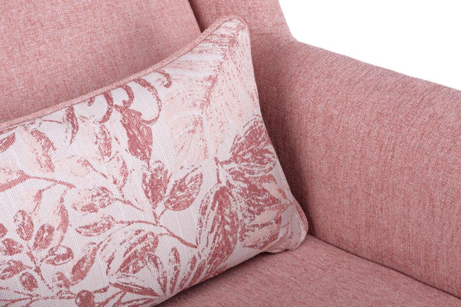 STRALIS Skandynawski fotel różowy na nóżkach koralowy - zdjęcie 4