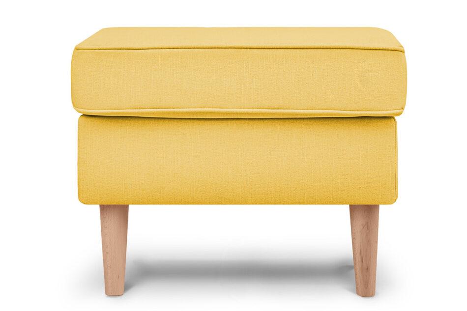 STRALIS Skandynawski puf żółty na nóżkach żółty - zdjęcie 0