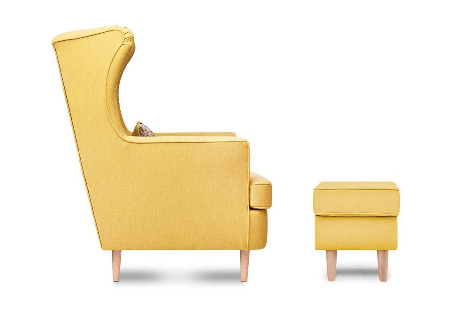 STRALIS Skandynawski puf żółty na nóżkach żółty - zdjęcie 1