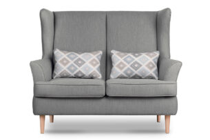 STRALIS, https://konsimo.pl/kolekcja/stralis/ Skandynawska sofa dwuosobowa szara na nóżkach szary - zdjęcie