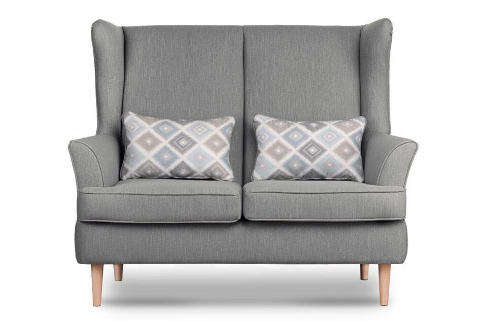 STRALIS Skandynawska sofa dwuosobowa szara na nóżkach szary - zdjęcie 0