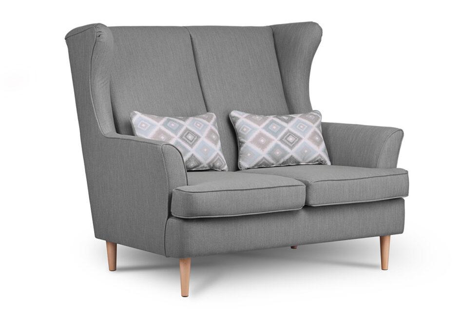 STRALIS Skandynawska sofa dwuosobowa szara na nóżkach szary - zdjęcie 1