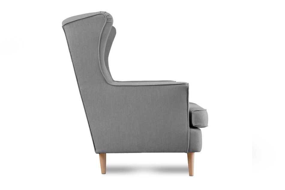 STRALIS Skandynawska sofa dwuosobowa szara na nóżkach szary - zdjęcie 3