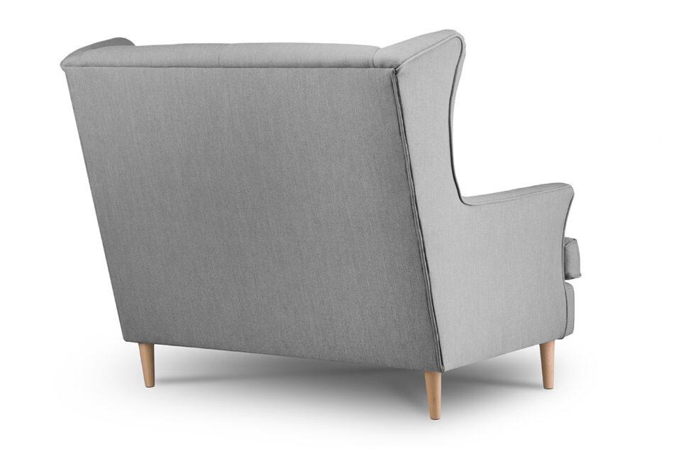 STRALIS Skandynawska sofa dwuosobowa szara na nóżkach szary - zdjęcie 4