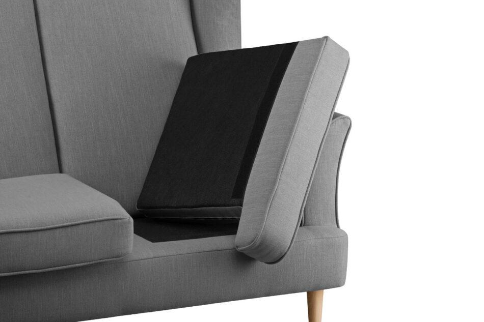 STRALIS Skandynawska sofa dwuosobowa szara na nóżkach szary - zdjęcie 5