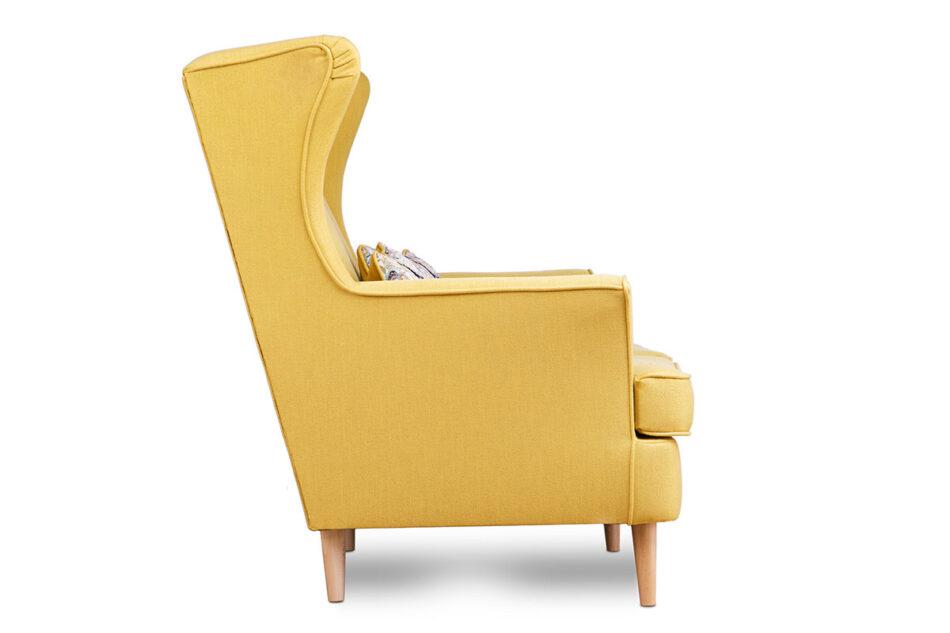 STRALIS Skandynawska sofa dwuosobowa żółta na nóżkach żółty - zdjęcie 3