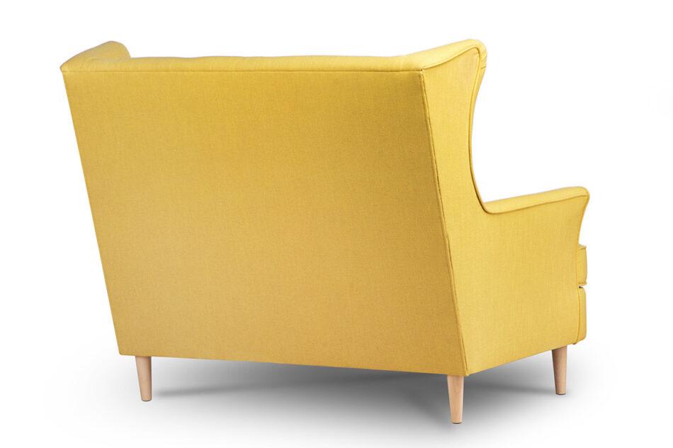 STRALIS Skandynawska sofa dwuosobowa żółta na nóżkach żółty - zdjęcie 4