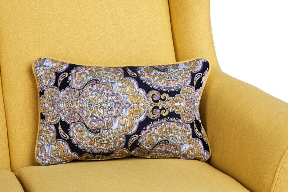 STRALIS Skandynawska sofa dwuosobowa żółta na nóżkach żółty - zdjęcie 8