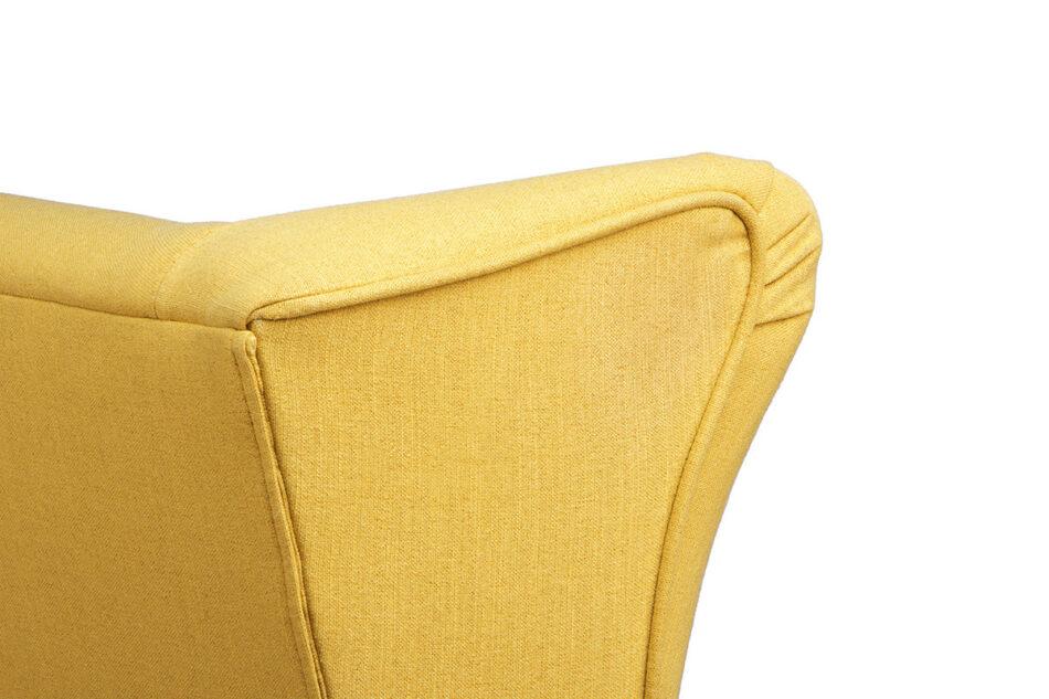 STRALIS Skandynawska sofa dwuosobowa żółta na nóżkach żółty - zdjęcie 5