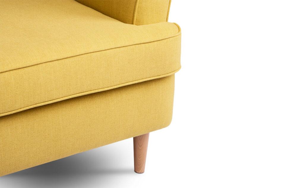 STRALIS Skandynawska sofa dwuosobowa żółta na nóżkach żółty - zdjęcie 7