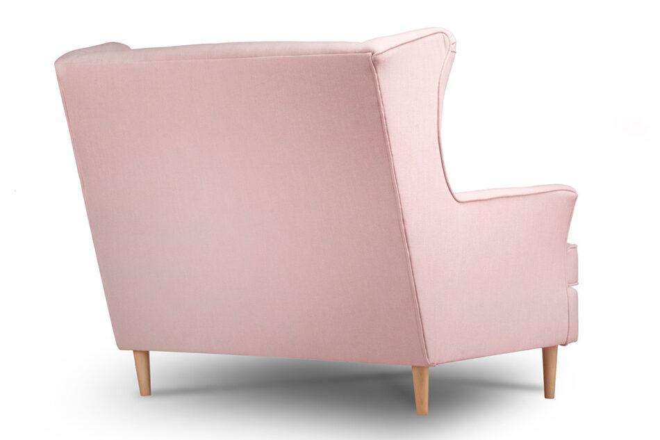STRALIS Skandynawska sofa dwuosobowa pudrowy róż na nóżkach różowy - zdjęcie 3