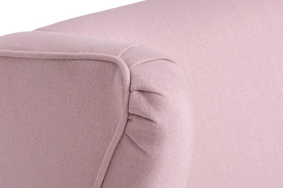 STRALIS Skandynawska sofa dwuosobowa pudrowy róż na nóżkach różowy - zdjęcie 4