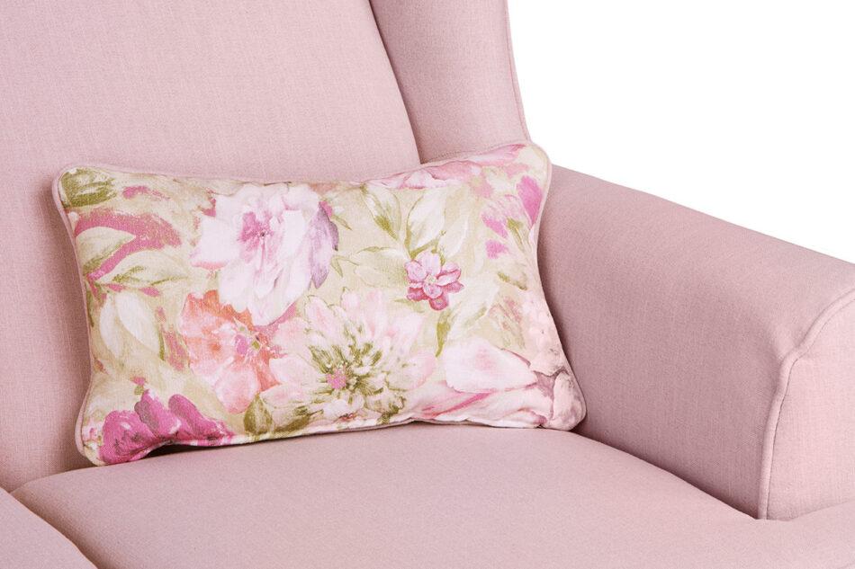 STRALIS Skandynawska sofa dwuosobowa pudrowy róż na nóżkach różowy - zdjęcie 5
