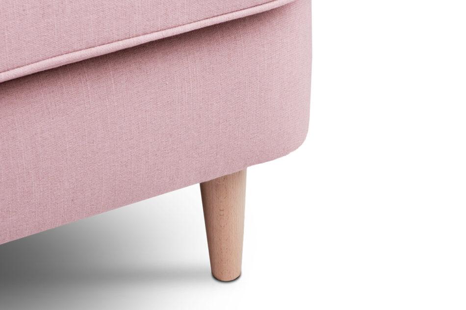 STRALIS Skandynawska sofa dwuosobowa pudrowy róż na nóżkach różowy - zdjęcie 6