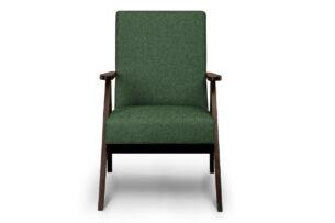 NASET, https://konsimo.pl/kolekcja/naset/ Fotel w styu PRL zielony zielony/ciemny orzech - zdjęcie