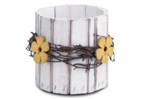 FLOSIO, https://konsimo.pl/kolekcja/flosio/ Osłonka do kwiatów biały/żółty - zdjęcie