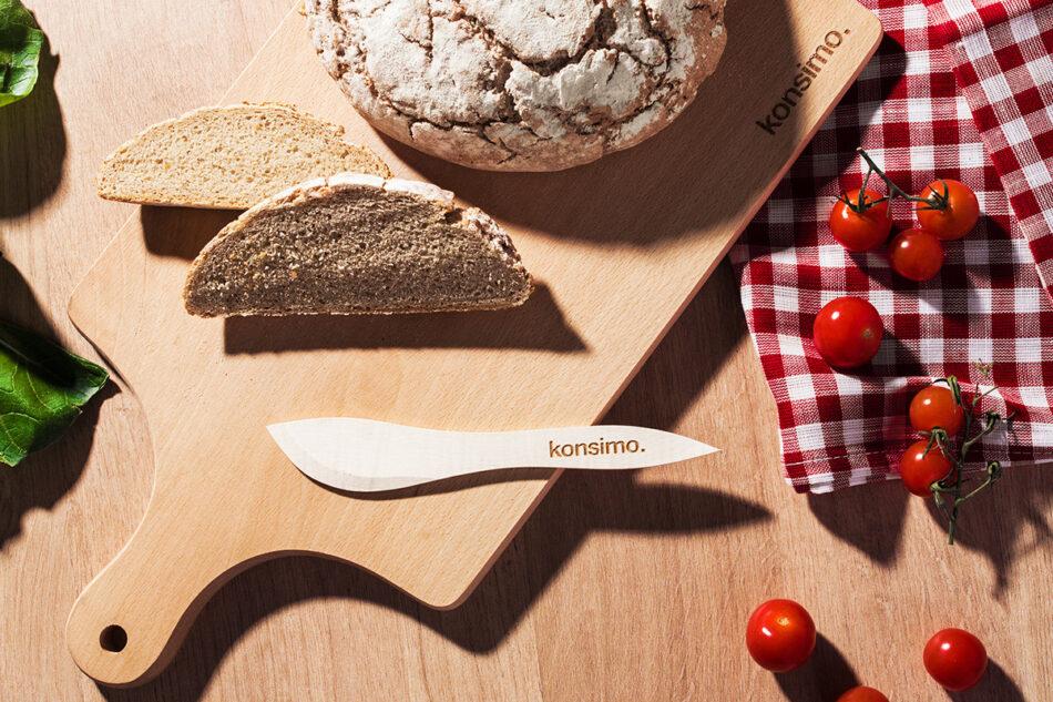BUTURUM Nożyk do masła brązowy - zdjęcie 2