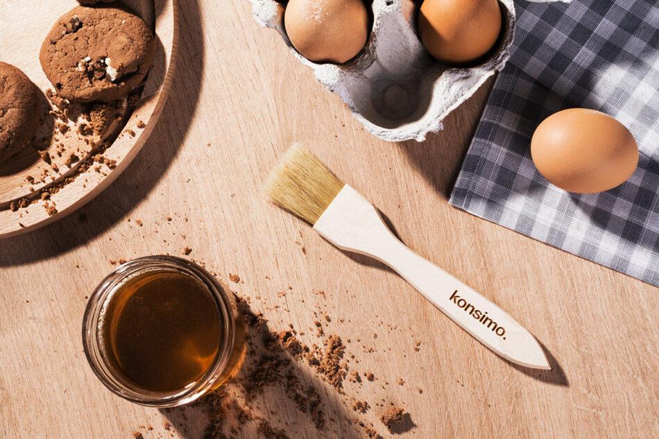 ACCEPTO Pędzel kuchenny brązowy - zdjęcie 1
