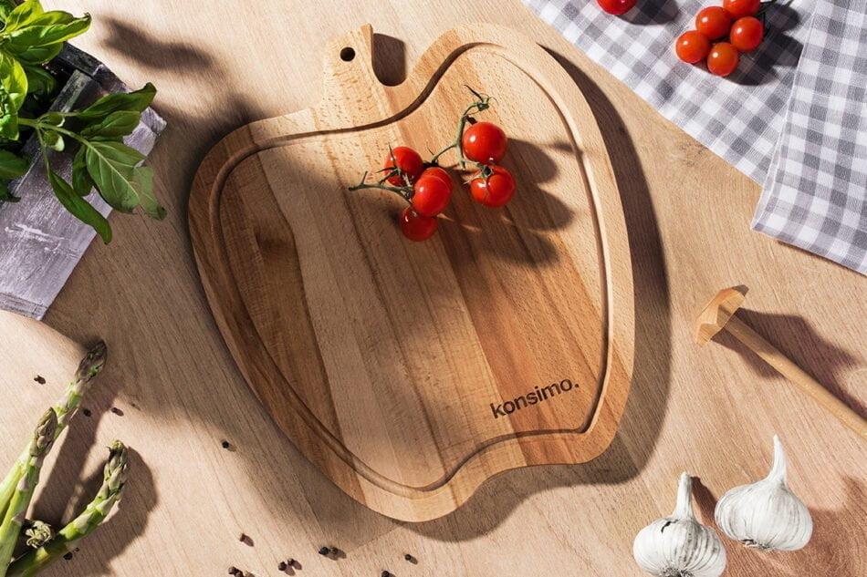 MALUM Deska do krojenia Jabłko brązowy - zdjęcie 1