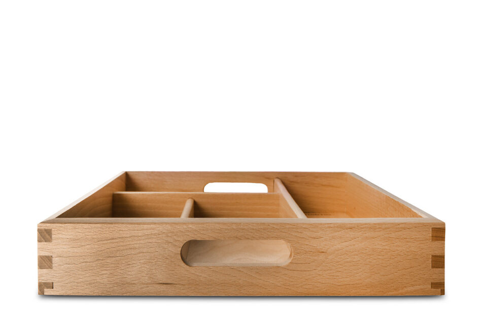 URACIUS Wkład do szuflady na sztućce brązowy - zdjęcie 0