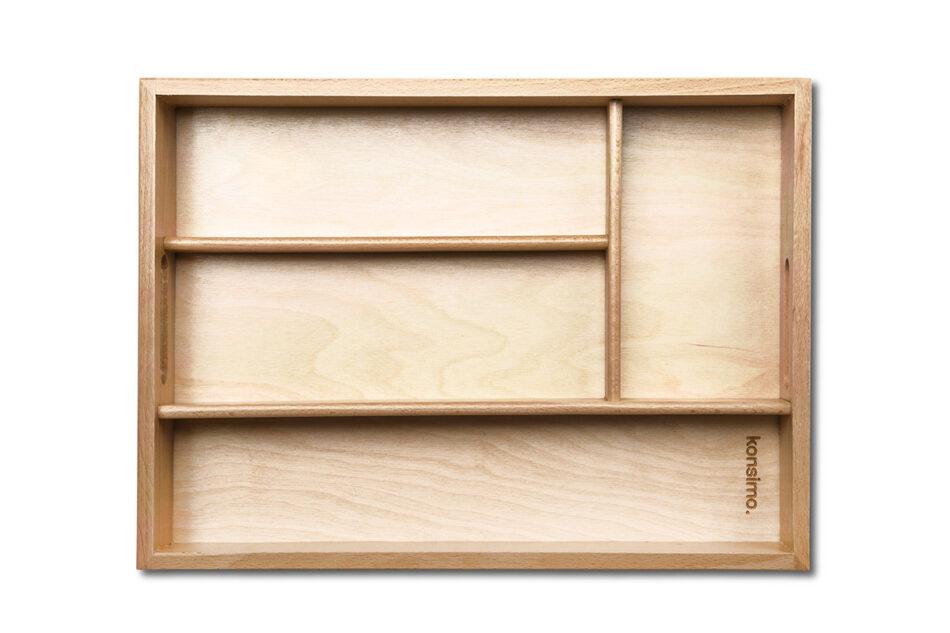 URACIUS Wkład do szuflady na sztućce brązowy - zdjęcie 2