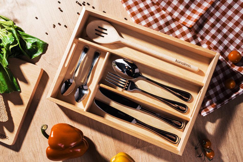 URACIUS Wkład do szuflady na sztućce brązowy - zdjęcie 1