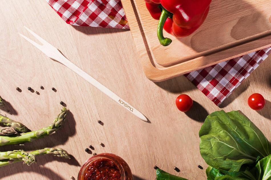 CRATICUM Komplet przyborów kuchennych do grilla brązowy - zdjęcie 8