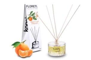 FLORETI, https://konsimo.pl/kolekcja/floreti/ Dyfuzor zapachowy mandarynka/wiciokrzew - zdjęcie