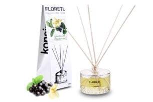 FLORETI, https://konsimo.pl/kolekcja/floreti/ Dyfuzor zapachowy wanilia/czarna porzeczka - zdjęcie