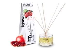 FLORETI, https://konsimo.pl/kolekcja/floreti/ Dyfuzor zapachowy limonka/granat - zdjęcie
