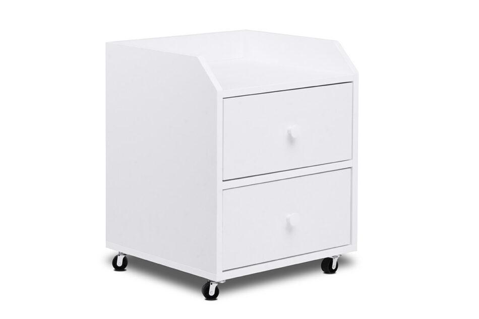 SCRIBI Szafka na kółkach pod biurko dla dzieci biała biały - zdjęcie 2