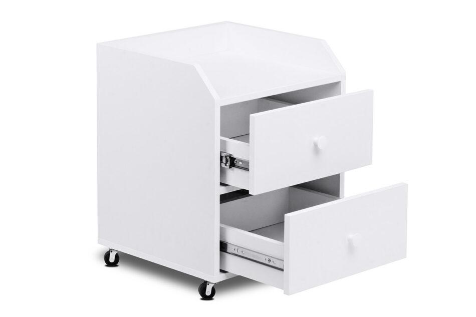 SCRIBI Szafka na kółkach pod biurko dla dzieci biała biały - zdjęcie 3