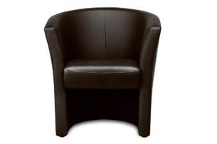TAMIS, https://konsimo.pl/kolekcja/tamis/ Fotel klubowy ekoskóra brązowy brązowy - zdjęcie