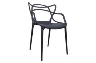 SLIMBI, https://konsimo.pl/kolekcja/slimbi/ Krzesło modern plastikowe czarne czarny - zdjęcie