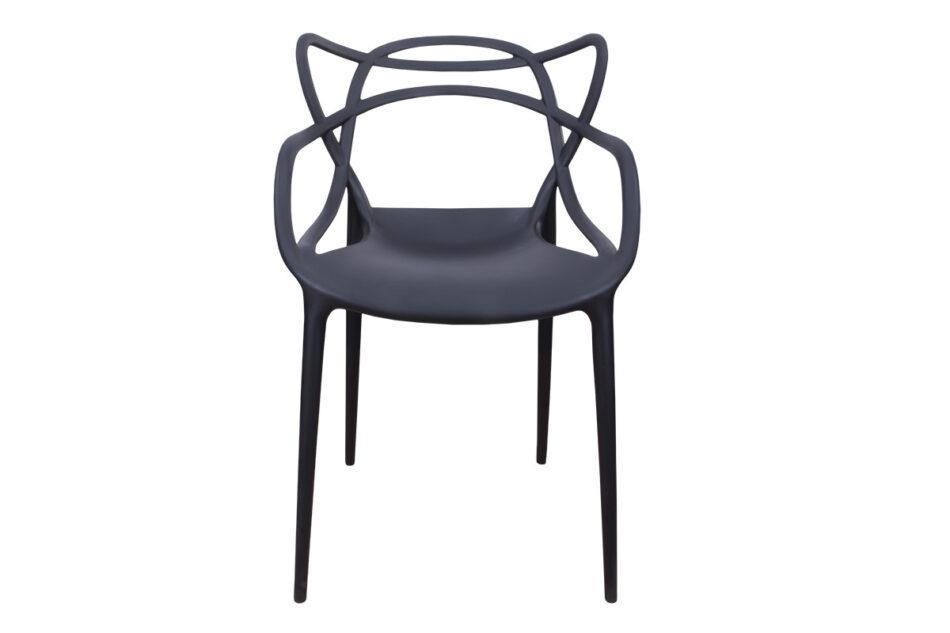 SLIMBI Krzesło modern plastikowe czarne czarny - zdjęcie 1