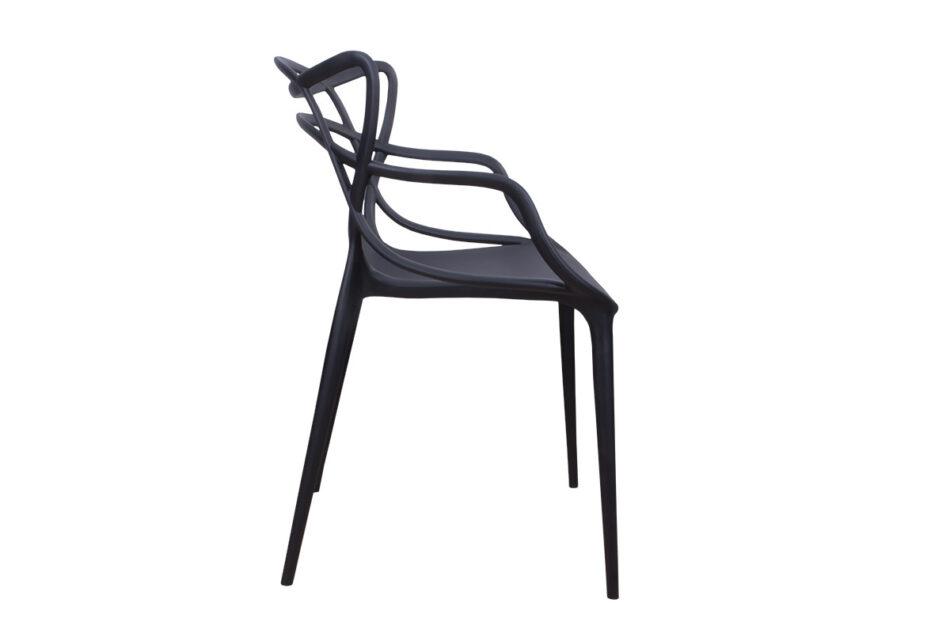 SLIMBI Krzesło modern plastikowe czarne czarny - zdjęcie 4