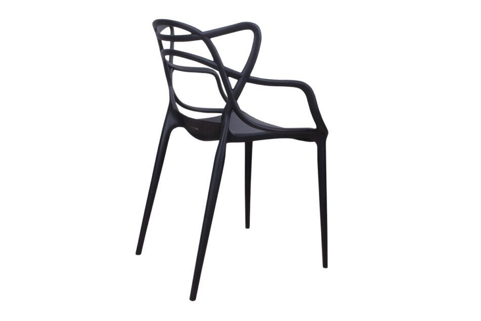 SLIMBI Krzesło modern plastikowe czarne czarny - zdjęcie 7
