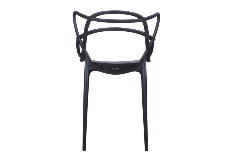 SLIMBI Krzesło modern plastikowe czarne czarny - zdjęcie 8