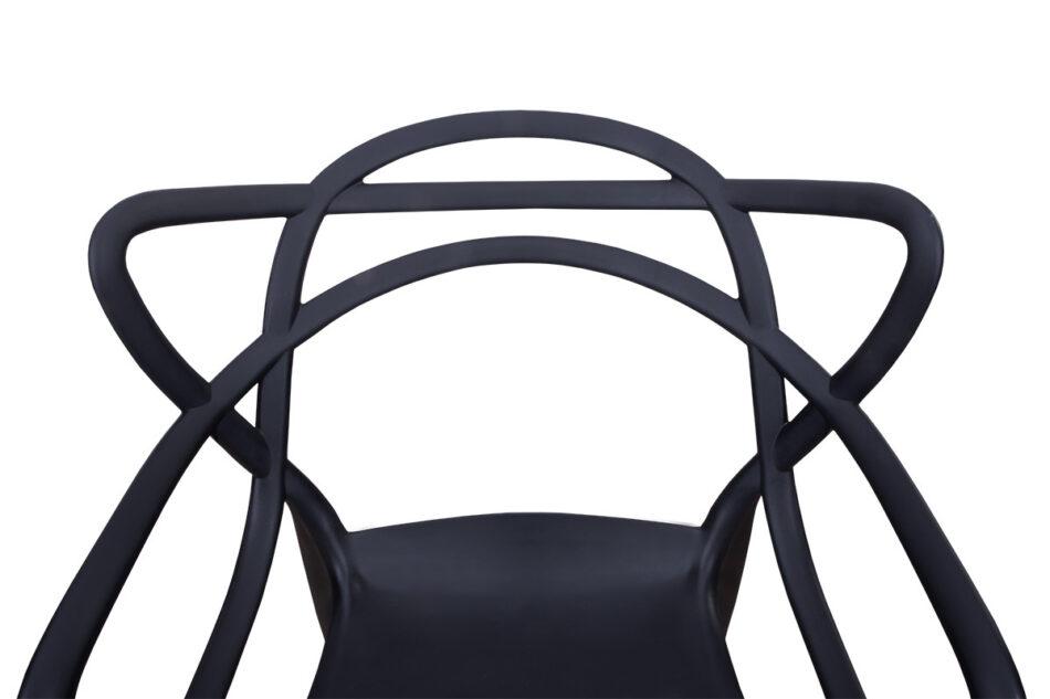SLIMBI Krzesło modern plastikowe czarne czarny - zdjęcie 2