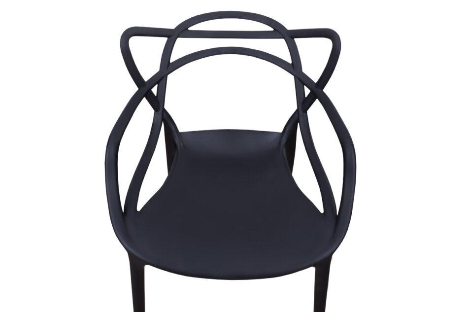 SLIMBI Krzesło modern plastikowe czarne czarny - zdjęcie 3