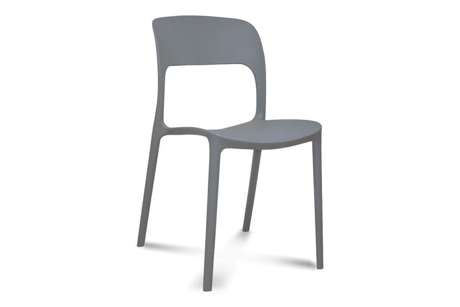 MALTE Nowoczesne krzesło plastikowe szare szary - zdjęcie 0