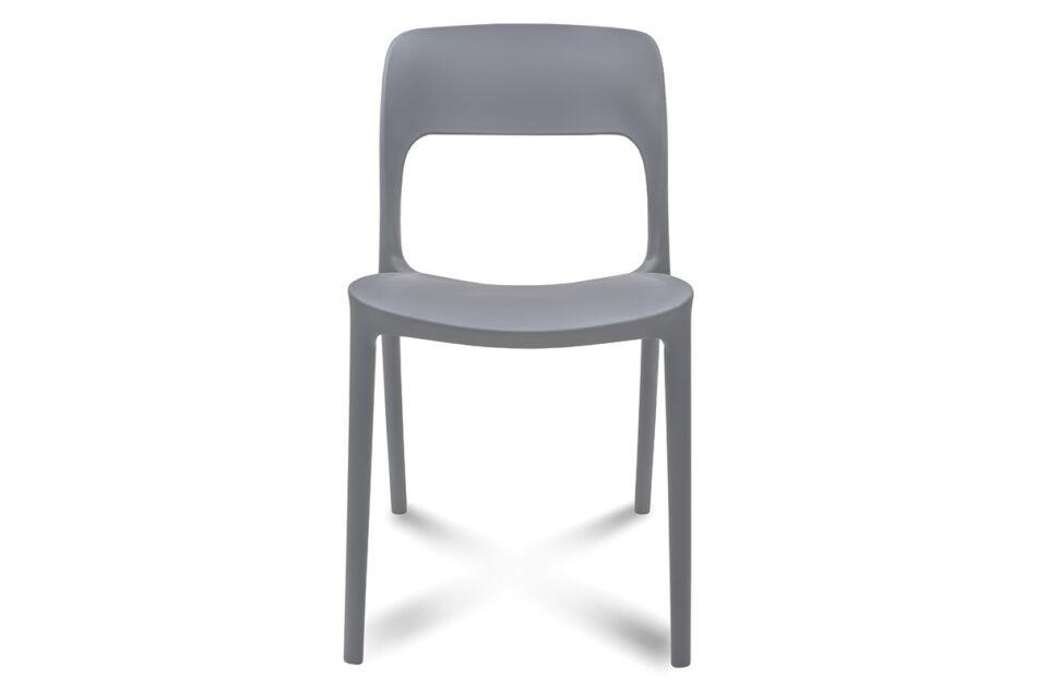 MALTE Nowoczesne krzesło plastikowe szare szary - zdjęcie 2