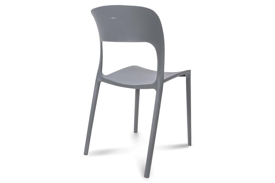 MALTE Nowoczesne krzesło plastikowe szare szary - zdjęcie 5