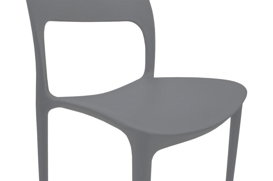 MALTE Nowoczesne krzesło plastikowe szare szary - zdjęcie 6